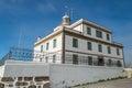 Lighthouse of cape finisterre end camino de santiago Stock Photography