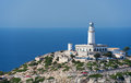 Lighthouse at cape formentor in the coast of north mallorca spain balearic islands Royalty Free Stock Photography