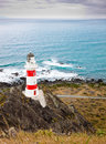 Lighthouse at Cape Palliser, New Zealand Royalty Free Stock Photos