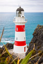 Lighthouse at Cape Palliser, New Zealand Royalty Free Stock Photo