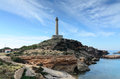 Lighthouse in cape of palos spain Stock Photography