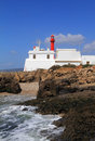 Lighthouse at cape raso cascais lisbon portugal cabo Royalty Free Stock Image