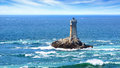 Lighthouse on cape sizun pointe du raz brittany france Stock Photo