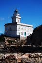 Lighthouse At The Capo Testa, Sardinia, Italy Royalty Free Stock Photo
