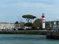 Lighthouse in the city of la rochelle france red and white western europe Royalty Free Stock Images