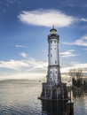 Lighthouse constance image of the of lindau at lake bodensee Stock Images