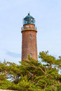 Lighthouse darsser ort at the with natureum near prerow fischland darss zingst Stock Image