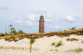 Lighthouse darsser ort at the with natureum near prerow fischland darss zingst Stock Photos