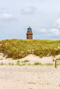 Lighthouse darsser ort at near prerow fischland darss zingst Stock Images