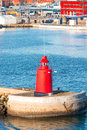 Lighthouse in denmark red port of frederikshavn Royalty Free Stock Image