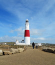 Lighthouse on the Dorset Coast Royalty Free Stock Photos