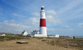 Lighthouse on the Dorset Coast Stock Photo