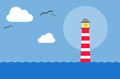 Lighthouse this is a drawing of a in the sea Royalty Free Stock Images