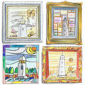 Lighthouse Drawings Stock Image