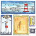 Lighthouse Drawings Royalty Free Stock Image