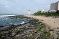 Lighthouse in durban umhlanga beach south africa Stock Images