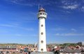 Lighthouse in Egmond aan Zee. North Sea, the Netherlands. Royalty Free Stock Photo