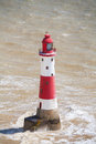 Lighthouse england beachy head in the sea east sussex Royalty Free Stock Photos