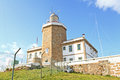 Lighthouse of finisterre spain horizontal view the spanish this place is the end the camino de santiago de compostela pilgrimage Stock Images