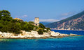 Lighthouse in Fiscardo, Kefalonia Royalty Free Stock Photo