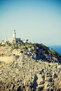 Lighthouse formentor in mallorca spain balearic islands Royalty Free Stock Photos
