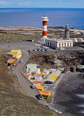 Lighthouse in fuencaliente on la palma the island canary islands spain Royalty Free Stock Images