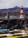 Lighthouse in fuencaliente on la palma the island canary islands spain Royalty Free Stock Photo