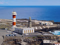 Lighthouse in fuencaliente on la palma the island canary islands spain Stock Image