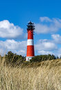 Lighthouse on the island Sylt in Hoernum Royalty Free Stock Photo