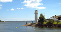 Lighthouse from Karlskrona. Royalty Free Stock Photo