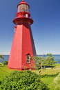 Lighthouse at La Martre in Quebec Stock Photos
