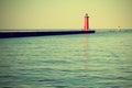Lighthouse on Lake Michigan Royalty Free Stock Photo