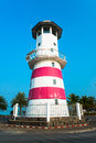 The lighthouse at the marina Royalty Free Stock Photo