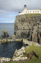 Lighthouse at Neist Point, Isle of Skye, Scotland Royalty Free Stock Images