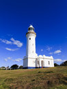 Lighthouse Nolah Day Vert White Stock Photography