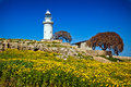 Lighthouse in paphos cyprus the old Royalty Free Stock Images