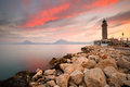 Lighthouse in Patras. Royalty Free Stock Photo