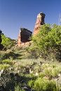 Lighthouse Peak in Palo Duro Canyon Stock Images