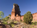 Lighthouse Peak in Palo Duro Canyon Stock Image