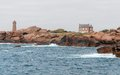 Lighthouse at Perros-Guirec Royalty Free Stock Photo