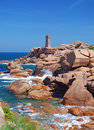 Lighthouse,Ploumanach,Brittany Stock Photography