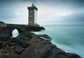 Lighthouse of Pointe de Kermovan in Le Conquet, Brittany, France