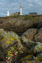 Lighthouse of pointe saint mathieu in plougonvelin brittany fr view the france Stock Photography