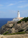 Lighthouse Punta de Capdepera Royalty Free Stock Photos