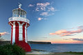 Lighthouse in red Stock Image