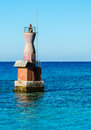 Lighthouse in the Red Sea. Royalty Free Stock Photo