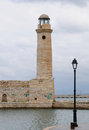 Lighthouse, Rethymno  Crete Stock Images