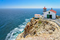 Lighthouse on the rock stairway to point reyes california Royalty Free Stock Images