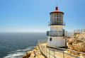 Lighthouse on the rock stairway to point reyes california Royalty Free Stock Image