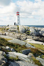 Lighthouse on the rocks Royalty Free Stock Photos